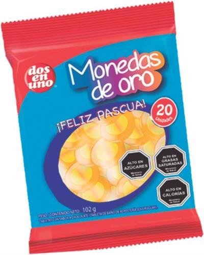 Foto MONEDAS DE CHOCOLATE DOS EN UNO 20 UNIDADES de