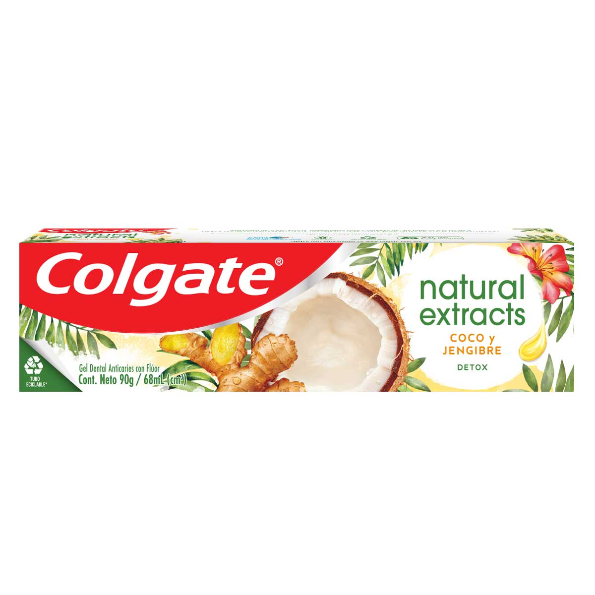 CREMA DENTAL COLGATE NATURAL COCO Y JENGIBRE 90GR