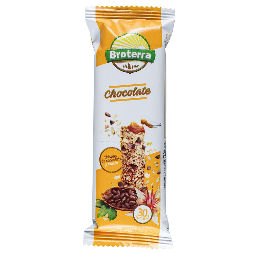 BARRA DE CEREAL CHOCOLATE BROTERRA 30GR