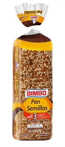 Foto PAN DE SANDWICH CON SEMILLAS BIMBO 650GR de