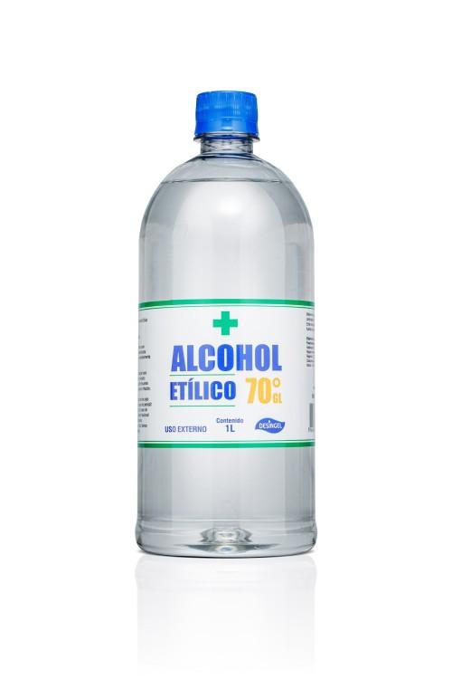 ALCOHOL ETILICO 70% DESINGEL 1LITRO