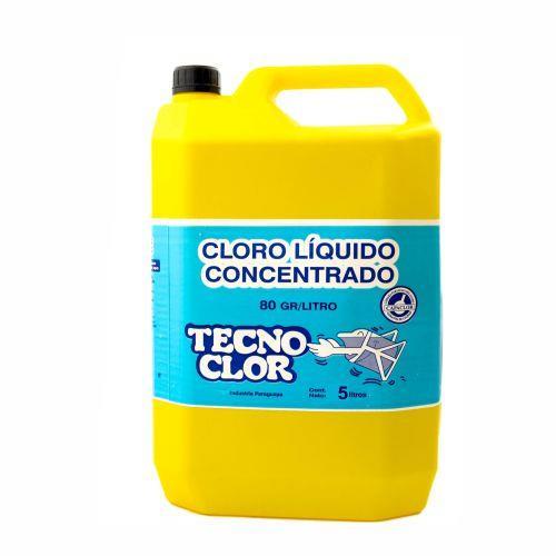 Foto CLORO LIQUIDO CONCENTRADO TECNOCLOR 5Litros de