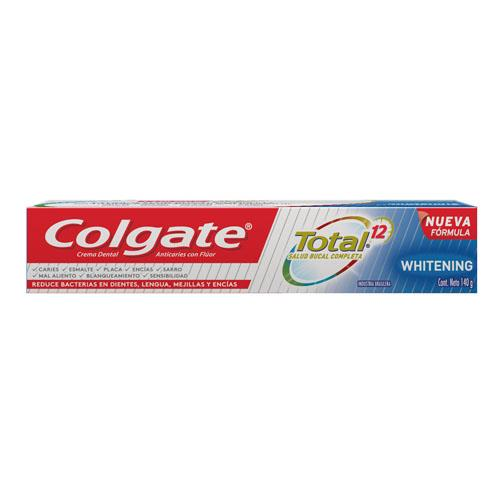 Foto CREMA DENTAL TOTAL 12 WHITENING COLGATE 140gr de