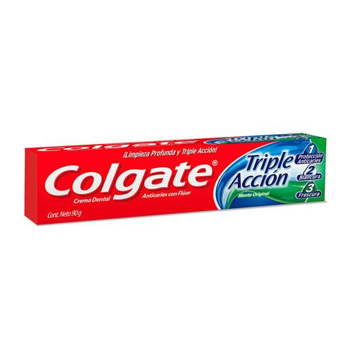 Foto CREMA DENTAL TRIPLE ACCION COLGATE 90gr de