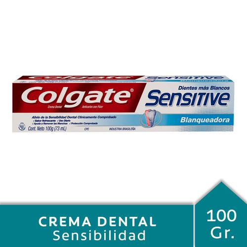 Foto CREMA DENTAL SENSITIVE BLANQUEADORA COLGATE 100gr de