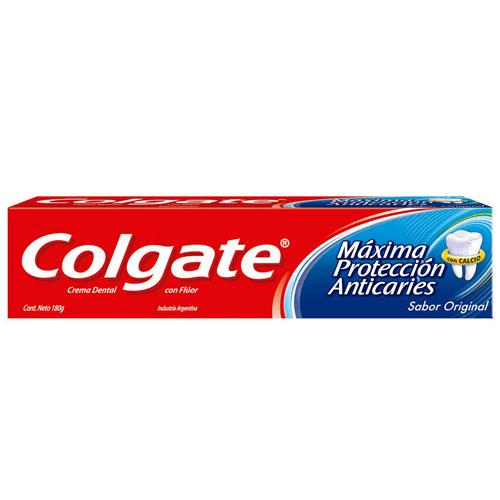 Foto CREMA DENTAL MAXIMA PROTECCION ANTICARIES COLGATE 180gr de