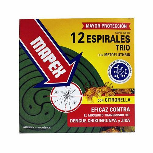 Foto ESPIRALES TRIO CON CITRONELLA MAPEX 12Unidades de