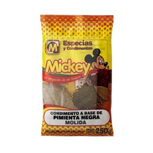 Foto CONDIMENTO A BASE DE PIMIENTA NEGRA MOLIDA MICKEY 250GR de