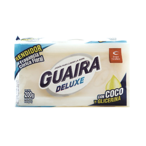 JABON DE COCO CON GLICERINA GUAIRA DELUXE 200GR
