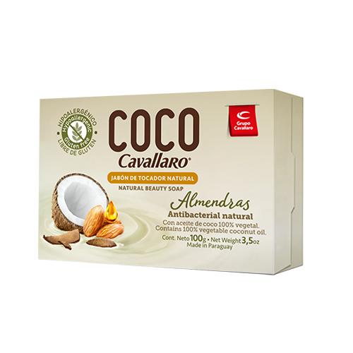 JABON DE TOCADOR NATURAL ALMENDRAS CAVALLARO 100GR