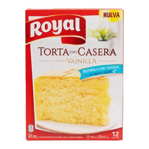 Foto TORTA TIPO CASERA SABOR VAINILLA ROYAL 500GR de