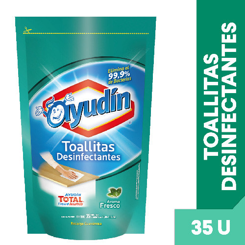 TOALLITAS DESINFECTANTES FRESCO AYUDIN 35 UNID