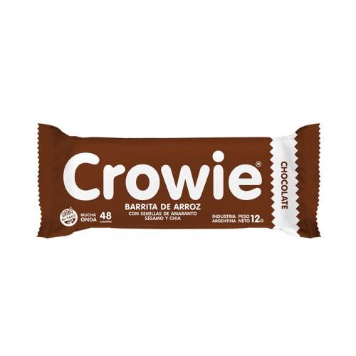 BARRITA DE ARROZ CON SEMILLAS SABOR CHOCOLATE CROWIE 12GR