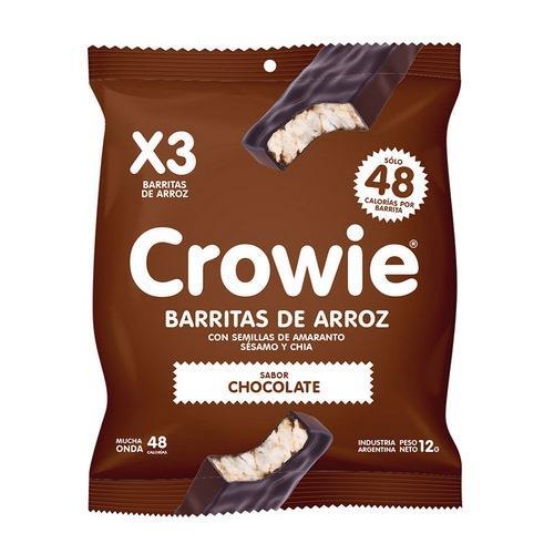 Foto BARRITAS DE ARROZ CON SEMILLAS SABOR CHOCOLATE CROWIE 3UNID de