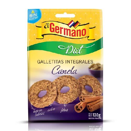 GALLETITA INTEGRAL DIET CON CANELA EL GERMANO 130GR