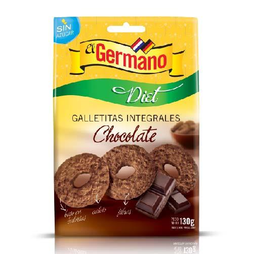 GALLETITA INTEGRAL DIET DE CHOCOLATE EL GERMANO 130GR