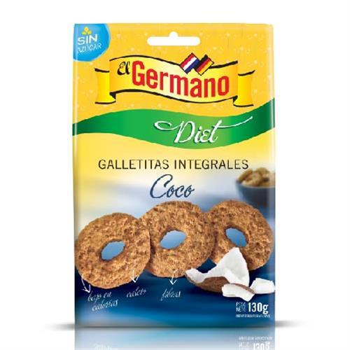 Foto GALLETITA INTEGRAL DIET DE COCO EL GERMANO 130GR de