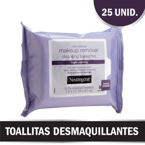 Foto TOALLITAS DESMAQUILLANTES NIGHT CALMING NEUTROGENA 25UNID de