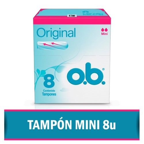 TAMPONES ORIGINAL MINI O.B 8UNID