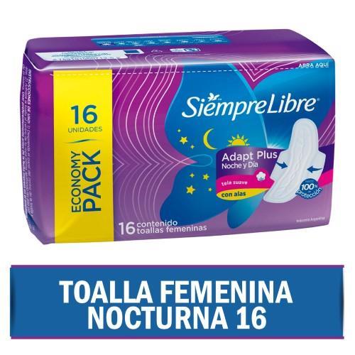 Foto TOALLITA FEMENINA NOCTURNA SIEMPRE LIBRE 16UNID de