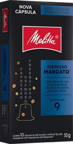 Foto CAFE ESPRESSO MARCATO EN CAPSULA MELITTA 10UNID de
