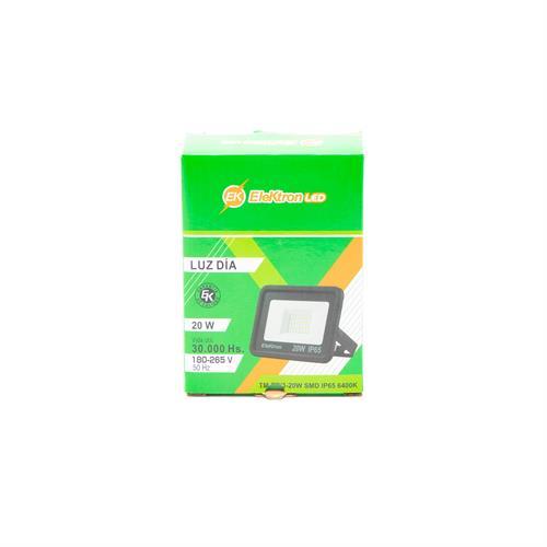 Foto REFLECTOR LED EK 20W VTFL124B WS 6400K ELEKTRON de