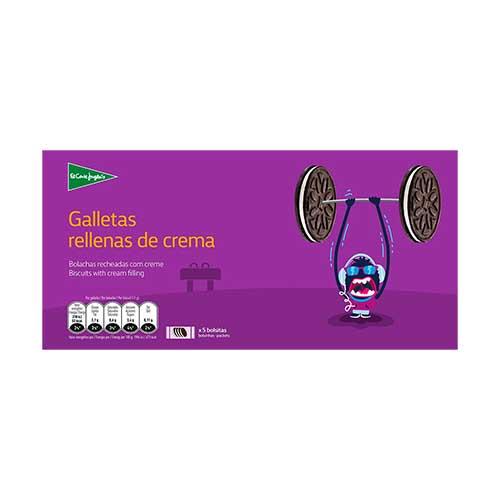 GALLETAS RELLENAS DE CREMA EL CORTE INGLES 6UN 220GR