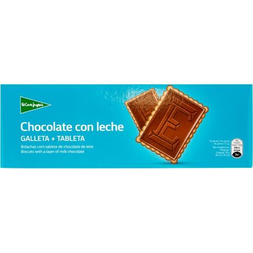 Foto GALLETA DE CHOCOLATE CON LECHE CORTE INGLES 150GR de
